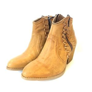 New Musse Cloud Athya Tan Distressed Western Boot